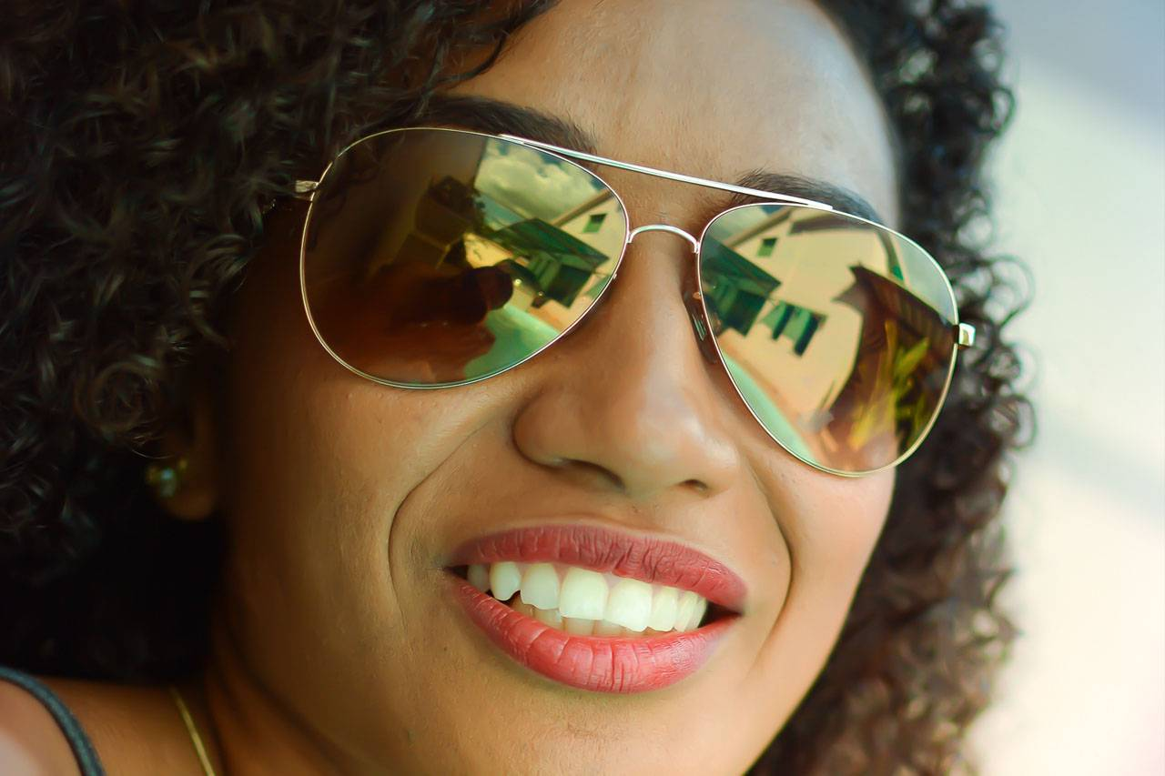 sunglasses african american woman